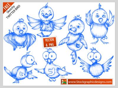 free twitter bird icons