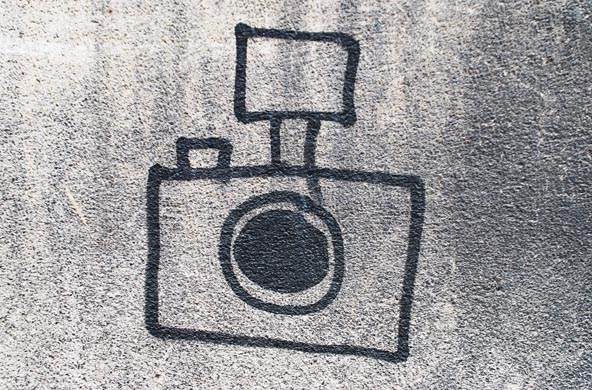 Graffiti analogue camera